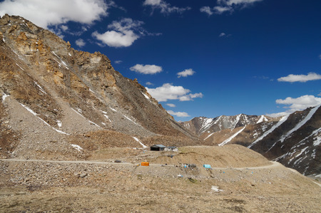 plains indian: The way from Nubra Valley to Leh in Ladakh,Northern India