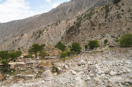 The Tato village on the way to Fairy Meadows,Northern Pakistan