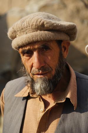 pakistani pakistan: Old Pakistani man near Chilas in Pakistan