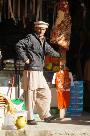 pakistani pakistan: A Pakistani man wearing traditional clothing,Northern Pakistan