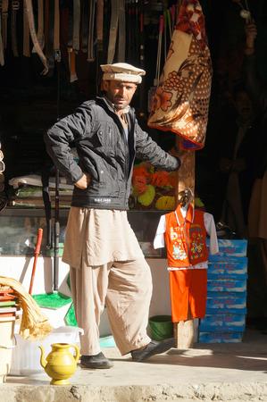 pakistani pakistan: A Pakistani man wearing traditional clothing,Northern Pakistan