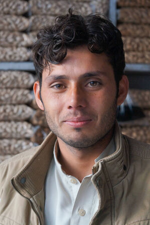 pakistani pakistan: Young Pakistani man at nut shop in Gilgit,Northern area of Pakistan