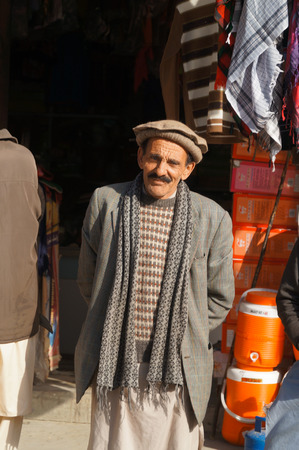 pakistani pakistan: Smiling old Pakistani man,Northern area of Pakistan