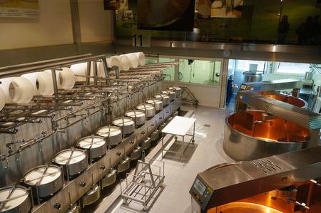 Cheese factory and it's modern equipment in Switzerland 報道画像
