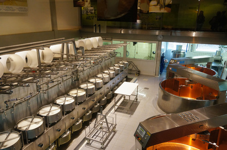 Cheese factory and its modern equipment in Switzerland Editorial