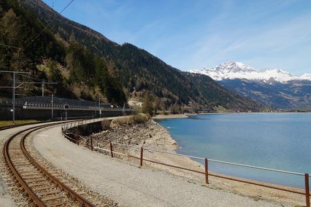 treno espresso: Beautiful landscape from Switzerland to Tirano in Italy by  Bernina express train