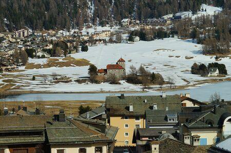 Beautiful view of St.Moritz in  Switzerland Stock Photo