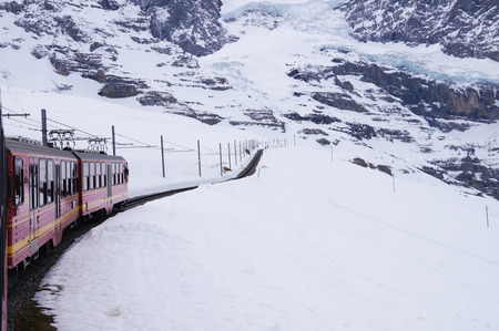 jungfraujoch: The Jungfrau railway is a metre gauge rack railway which runs 9 km from Kleine Scheidegg to the highest railway station in Europe at Jungfraujoch.