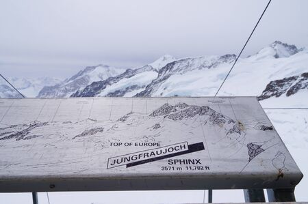 jungfraujoch: Snow mountain at Jungfraujoch in Switzerland