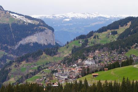oberland: Grindelwald Village in Berner Oberland in Switzerland