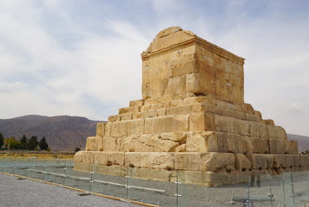 cyrus: Tomb of Cyrus the Great, Pasargad in  Iran.