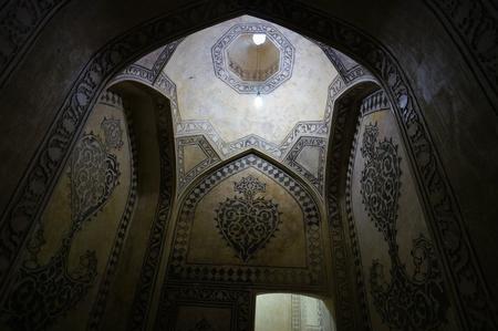 wall and ceiling of historical building, Citadel of Karim Khan in Shiraz, Iran. Editorial