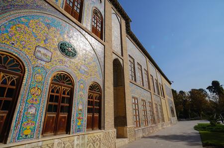 edifice: Edifice of the Sun of  Golestan Palace,the oldest groups of buildings in persian capital, Tehran, Iran.