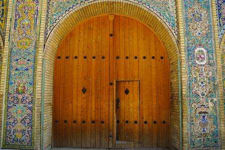 renovated: Renovated old gate, Golestan palace, Tehran, Iran Editorial