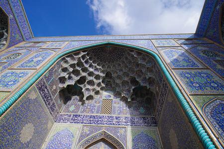isfahan: Sheikh Lotfallah Mosque at Naghsh-i Jahan Square in  Isfahan, Iran. Stock Photo