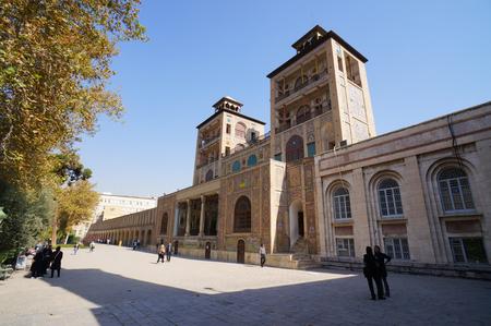 edifice: Tehran,Iran - October 26,2015: Edifice of the Sun of Golestan Palace in Tehran,Iran. Editorial
