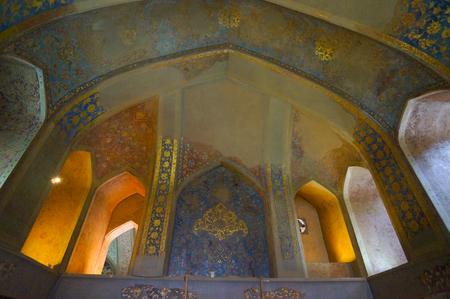 isfahan: Beautiful interior of Chehel Sotoun Palace in Isfahan, Iran.