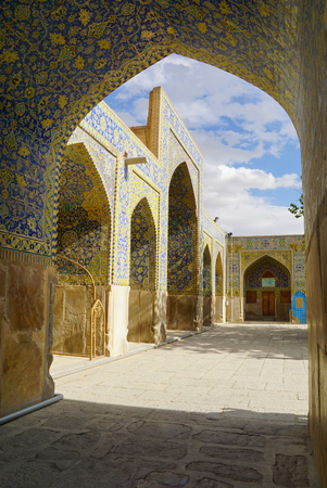 isfahan: Imam Mosque at Naqhsh-e Jahan Square in Isfahan, Iran. It is know as Shah Mosque.