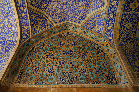 imam: Beautiful interior of Imam Mosque  at Naghsh-e Jahan Square in Isfahan, Iran. Editorial