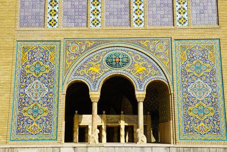 edifice: Edifice of the Sun of  Golestan Palace in Tehran, Iran. Stock Photo
