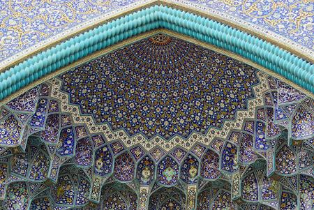 isfahan: Muqarnas of the entrance gate of Imam mosque, Isfahan, Iran