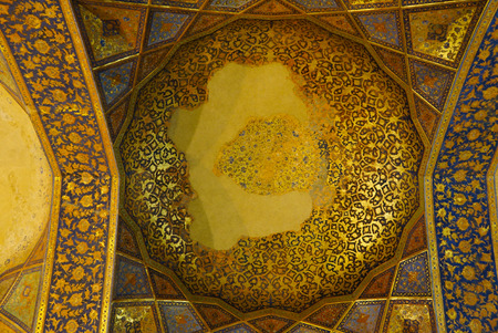 receptions: Interior of Chehel Sotoun palace in Isfahan, Iran.Chehel sotoun was built in 1646 by Shah Abbas II to be used for his entertainment and receptions. Editorial