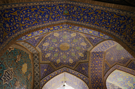 imam: Interior of the Imam Mosque viewed from the entrance at Naqhsh-e Jahan Square in Isfahan, Iran .The Imam mosque is known as Shah Mosque. Editorial