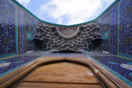shah: Imam Mosque viewed from the entrance at Naqhsh-e Jahan Square in Isfahan, Iran .The Imam mosque is known as Shah Mosque.