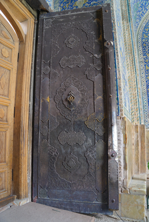 imam: Beautiful door of Imam Mosque in Isfahan, Iran .The Imam mosque is known as Shah Mosque.