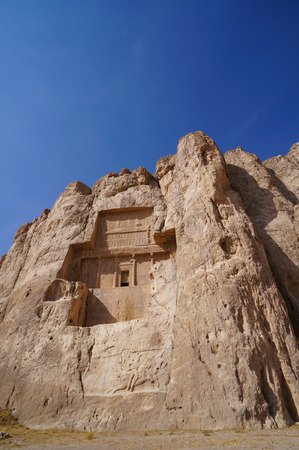 shiraz: Tomb of Persian Kings Darius II at Naqsh-e Rustam in northern Shiraz, Iran.