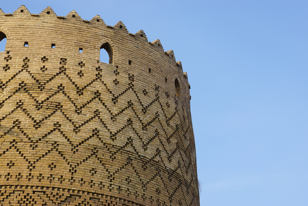 shiraz: Beautiful detail of historical building, Citadel of Karim Khan in Shiraz, Iran. Editorial