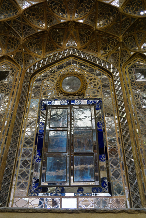 receptions: Beautiful wall of Chehel Sotoun Palace in Isfahan,Iran.Chehel Sotoun Palace is a pavilion that was built by Shah Abbas II to be used for his entertainment and receptions.