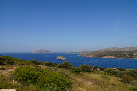 promontory: Cape Sounion is a promontory at the southernmost tip of the Attica peninsula in Greece. Cape Sounion is noted as the site of ruins of an ancient Greek temple of Poseidon