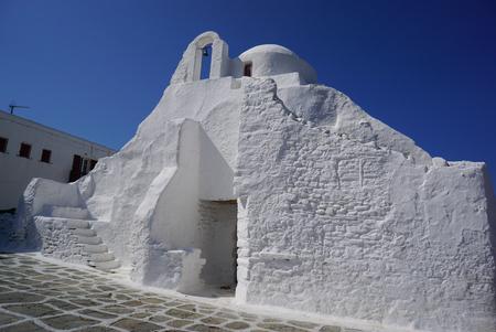 myconos: Panagia Paraportiani church in Mykonos, Greece, Europe