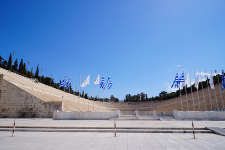 olympic ring: Panathenaic Stadium is an athletic stadium in Athens that hosted the first modern Olympic Games in 1896.