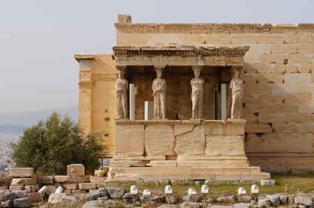 acropolis: Caryatides, Erehtheio, Acropolis in Athens, Greece