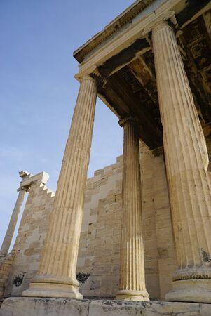 acropolis: Propilea on Acropolis in Athens, Greece,Europe.