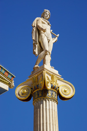 national poet: Statue of Apollo,Academy of Athens in Greece