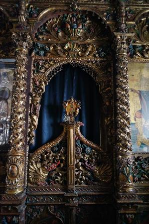 ano: Beautiufl Monastery of Panagia Tourliani in Ano Mera, Mykonos, Cyclades, Greece.