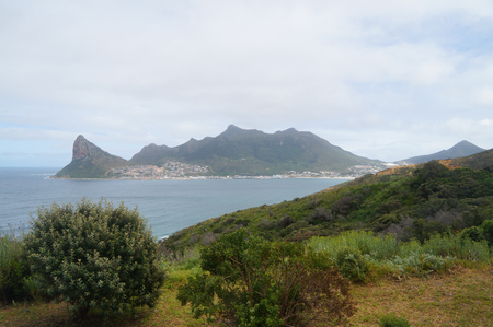 chapmans: Hout bay view from chapmans peak in spring, south africa