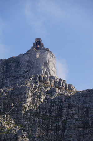table mountain national park: Cape Town,South Africa - 21 October 2016: Table mountain view with cable car in Cape Town,South Africa . Editorial