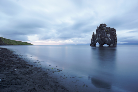 Hvitserkur is a spectacular rock in the sea on the Northern coast of Iceland.