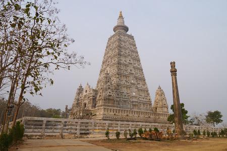 Bodh Gaya pagoda at Wat Chong Kham , Lampang province,Thailand (build models from India) Stock Photo