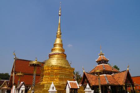 Wat Pong Sanuk Temple in Lampang, Thailand,Asia. Stock Photo