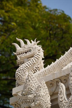 Beautiful detail of  Wat Phra Kaew Don Tao, Lampang, Northern Thailand. Stock Photo