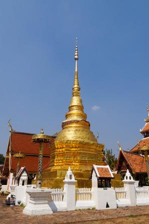 Wat Pong Sanuk Tai Temple in Lampang, Northern Thailand. Stock Photo