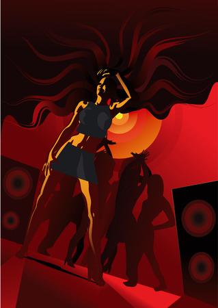 disco girl Stock Vector - 3654777