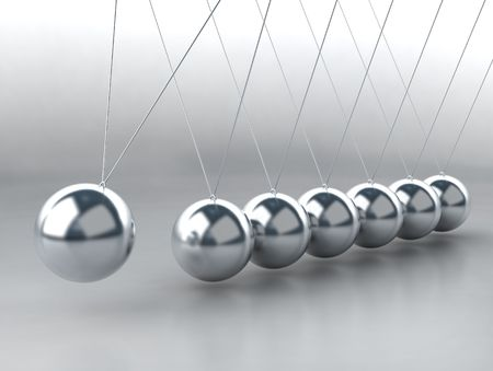 balancing balls Newton's cradle Stock Photo - 4065542