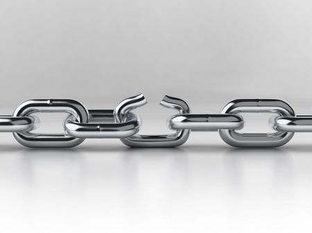 unleashed: chain breaking Stock Photo