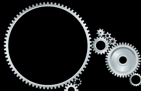 conection: mecanismo de engranajes Vectores